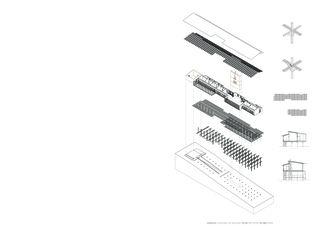 Axonometrie - Konstruktionsdetails - Systemschnitte Permatektur - Der Weiler als Impuls für die Entwicklung der Kulturlandschaft von