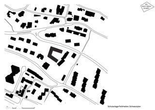 Plan de masse Primarschulanlage Feldmeilen de neon|deiss