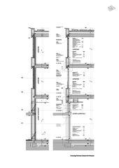 Détail coupe façade Primarschulanlage Feldmeilen de neon|deiss
