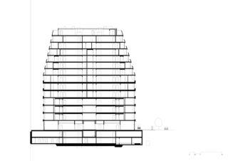 Schnitt_2 Wohn- und Geschäftsüberbauung Rosentalstrasse von Morger Partner Architekten AG