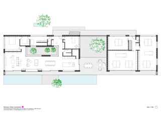 Plan rez-de-chaussée Wohnen und Arbeiten am Waldrand de Reimann Sidler Architekten GmbH