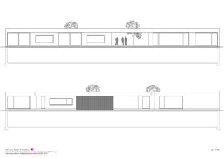 Façades sud et nord Wohnen und Arbeiten am Waldrand de Reimann Sidler Architekten GmbH