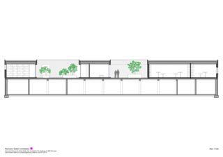 Cooupe longitudinale Wohnen und Arbeiten am Waldrand de Reimann Sidler Architekten GmbH