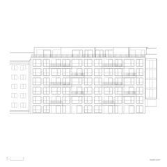 Ostfassade Immeuble dixence von françois MEYER ARCHITECTURE