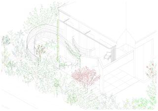 Axonometrie Garten Umbau #01 – Die Postmoderne umbauen de DU STUDIO
