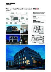 Präsentation Neubau Wohn- und Geschäftshaus, Churerstrasse 54, 8808 Pfäffikon SZ von Halter Hunziker Architekten AG