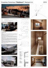 Plakat Ersatzbau Ferienhaus