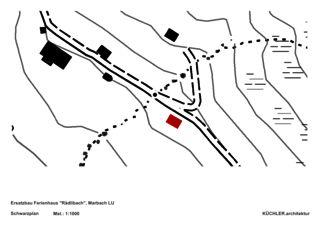 Plan de masse Ersatzbau Ferienhaus