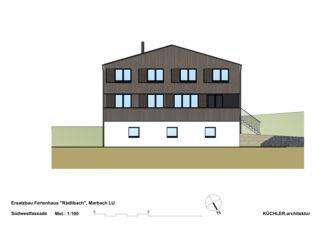 Elevation sud-ouest Ersatzbau Ferienhaus