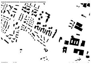 Plan de masse Neubausiedlung Mattenhof in Zürich-Schwamendingen de Bachelard Wagner Architekten ETH SIA BSA
