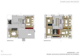 Plans Schulhaus Krisenintervention Riesbach de Stalder & Buol Architektur