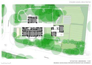 Situation Schulhaus Krisenintervention Riesbach de Stalder & Buol Architektur