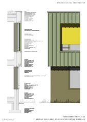 Coupe façade Schulhaus Krisenintervention Riesbach de Stalder & Buol Architektur