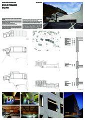 planche A0 Centre scolaire de Bonnard Woeffray architectes fas sia