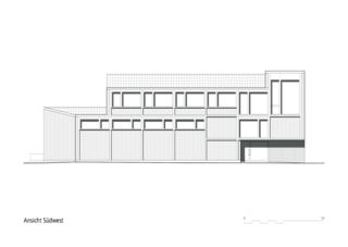 Ansicht südwest Werkhof Wohlen von Kuithan Architekten GmbH
