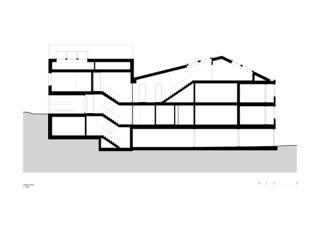 Coupe longitudinale Wohnen am Bodenweg de Rosenmund + Rieder Architekten BSA SIA AG