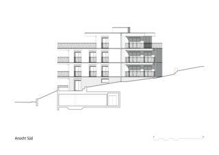 Vue sud Mehrfamilienhaus Zug de Kuithan Architekten GmbH