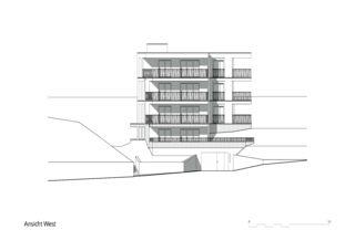 Vue ouest Mehrfamilienhaus Zug de Kuithan Architekten GmbH