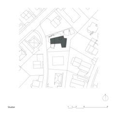 Situationsplan Mehrfamilienhaus Zug von Kuithan Architekten GmbH