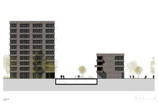 Façade nord Lutzertgarten Muttenz de Rosenmund + Rieder Architekten BSA SIA AG