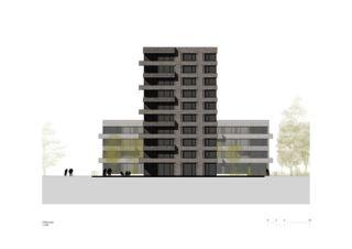Façade est Lutzertgarten Muttenz de Rosenmund + Rieder Architekten BSA SIA AG