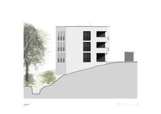 Sonnenweg_Nordfassade Wohnen am Sonnenweg von Rosenmund + Rieder Architekten BSA SIA AG