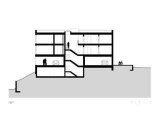 Sonnenweg_Längsschnitt Wohnen am Sonnenweg von Rosenmund + Rieder Architekten BSA SIA AG