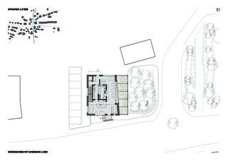 Situation und Grundriss mit Umgebung Blickfang von Hunkeler Partner Architekten AG