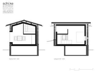 Schnitte Maiensäss Schwäderloch von schi.ke Architektur Schibler + Kehl