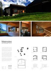 Plakat Maiensäss Schwäderloch von schi.ke Architektur Schibler + Kehl
