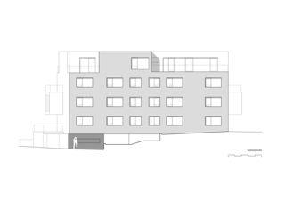 Fassade Nord WOHNHAUS SIHLCUBE von Daluz Gonzalez Architekten