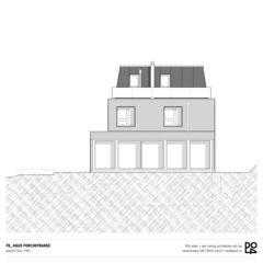 Vue sud Haus Forchstrasse de PO4 seiler + den hartog architekten GmbH