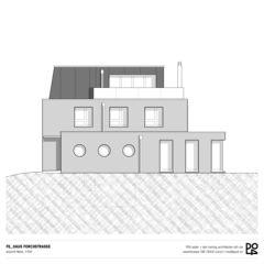 Vue ouest Haus Forchstrasse de PO4 seiler + den hartog architekten GmbH