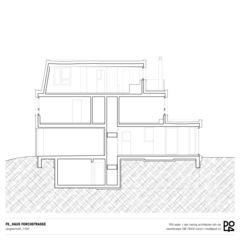 Coupe longitudinale Haus Forchstrasse de PO4 seiler + den hartog architekten GmbH