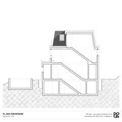 Coupe transversale Haus Forchstrasse de PO4 seiler + den hartog architekten GmbH