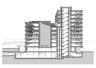 Suurstoffi 22 Schnittperspektive Bürogebäude Suurstoffi 22 von Burkard Meyer Architekten BSA