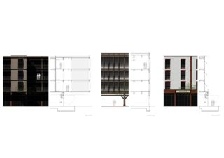 Fassadenschnitt Patio Arellano de