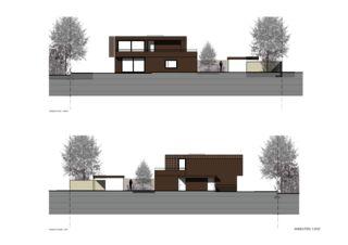 Ansichten Süd-West / Nord-Ost Zweifamilienhaus Suter von Andreas Marti & Partner Architekten AG