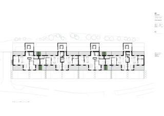 2. Obergeschoss Mehrfamilienhaus Adlikon von Felix Partner Architektur AG