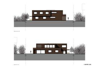 Ansichten Nord-West / Süd-Ost Zweifamilienhaus Suter von Andreas Marti & Partner Architekten AG