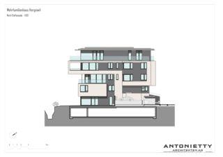 Nord-Ostfassade MFH Hergiswil von Dipl. Architekten FH/SIA<br/>