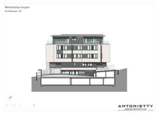 Nord-Westfassade MFH Hergiswil von Dipl. Architekten FH/SIA<br/>