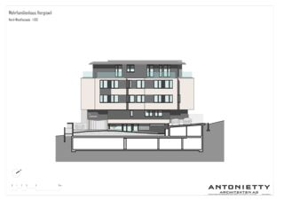 Façade nord-ouest MFH Hergiswil de Dipl. Architekten FH/SIA<br/>