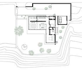 Grundriss Erdgeschoss Neubau Villa Amanjiwo, Luzern von SPPA Architekten