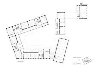 1. Obergeschoss Primarschulanlage Feldmeilen de neon|deiss