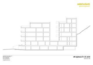 Schnitt MFH Rigistrasse von WR Architekten AG