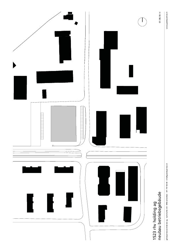 Situationsplan Firmengebäude RHV  von göldipartnerarchitekten ag