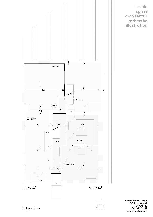 Plan Bestand EG Umbau und Sanierung eines historischen Einfamilienhauses de Architektur Recherche Illustration<br/>