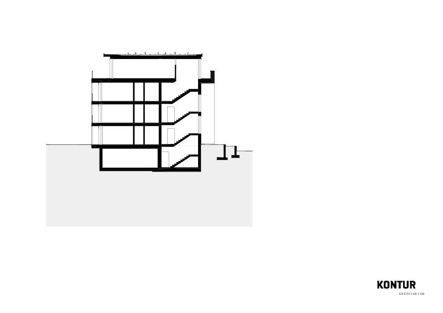 Schnitt Turmatt von KONTUR ARCHITEKTEN AG