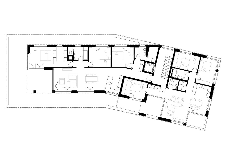 Attique Mehrfamilienhaus «In der Ey» de merkli degen architekten eth